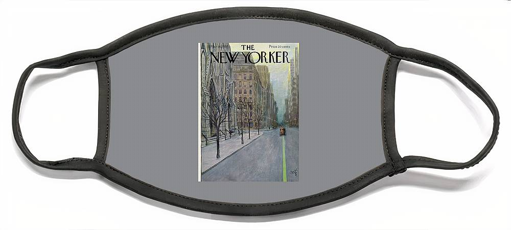 New Yorker March 16th, 1957 Face Mask