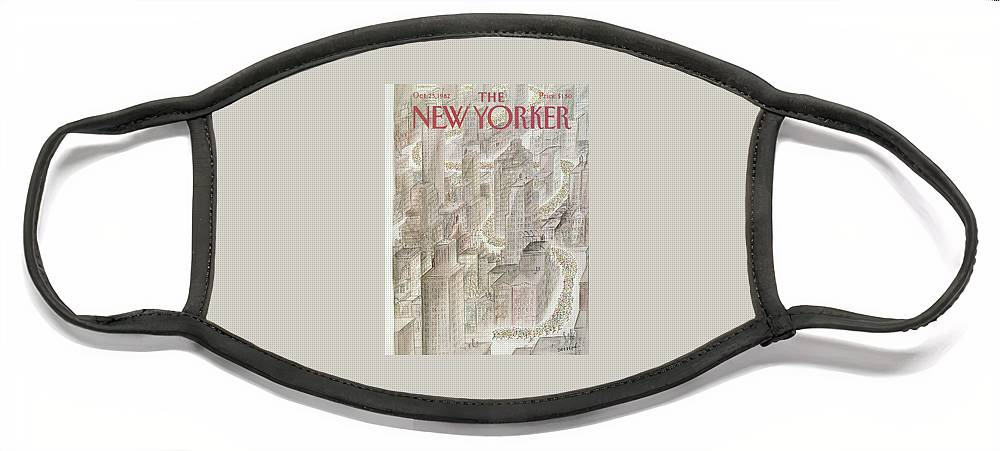 New Yorker October 25th, 1982 Face Mask