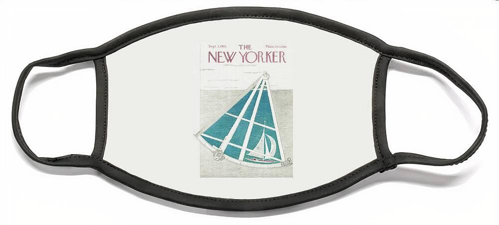 New Yorker September 3rd, 1955 Face Mask