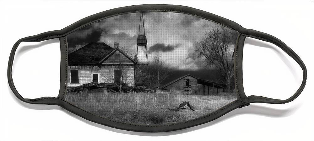 Farms Face Mask featuring the photograph Old Georgia Farm by Richard Rizzo