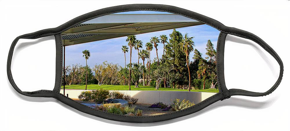 Palm Springs Face Mask featuring the photograph OVERHANG Palm Springs Tram Station by William Dey