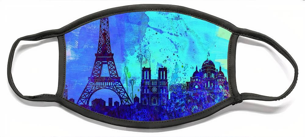Paris Skyline Face Masks