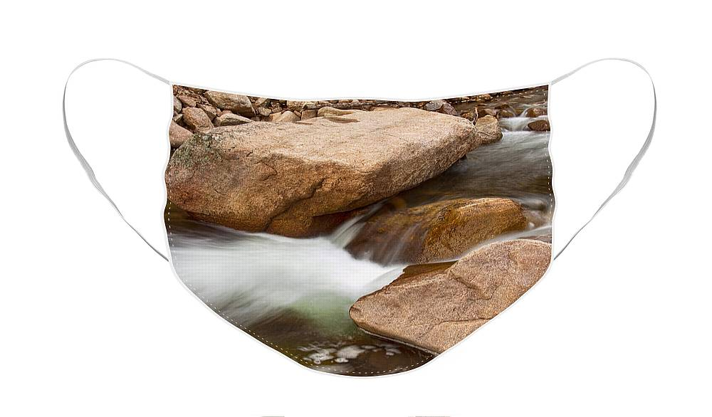 Peaceful Face Mask featuring the photograph Peaceful Flowing Water by James BO Insogna