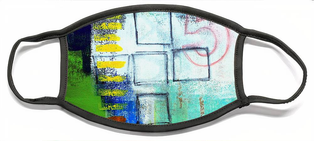 Abstract Face Mask featuring the painting Playground by Linda Woods