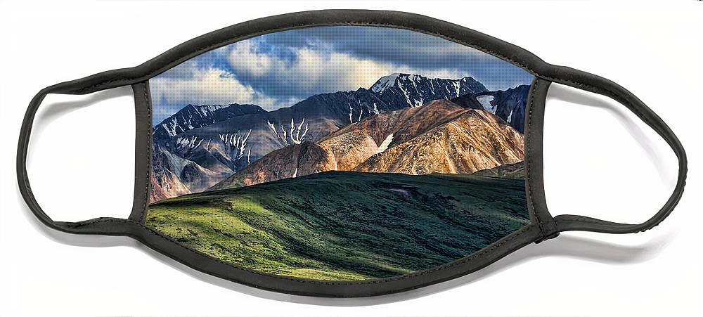 Polychrome Face Mask featuring the photograph Polychrome Pass by Heather Applegate
