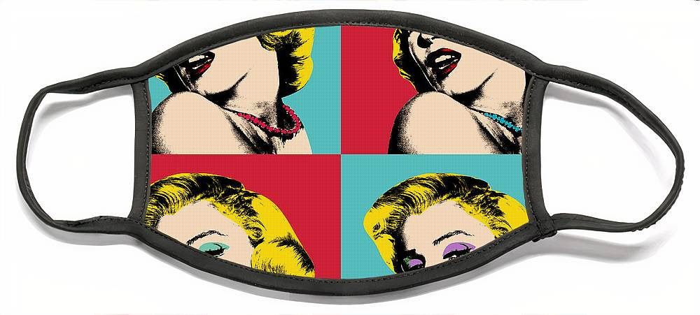 Pop Art Face Mask featuring the painting Pop Art Collage by Mark Ashkenazi