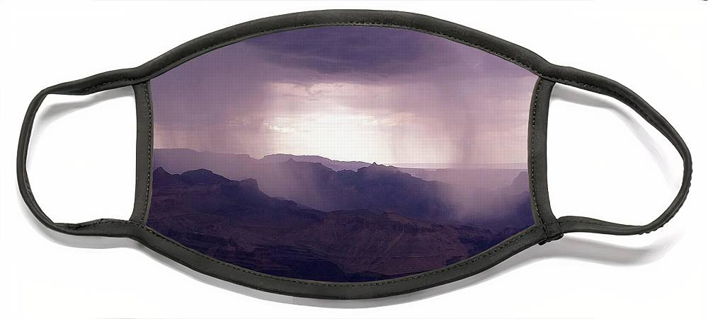 Grand Canyon Face Mask featuring the photograph Rain in the Grand Canyon by Keith Stokes