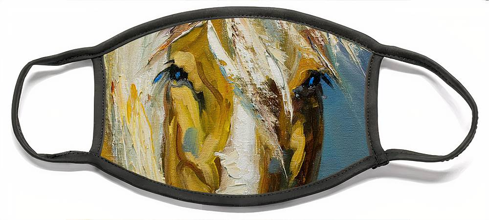 Horse Face Mask featuring the painting Ranch Horse by Diane Whitehead