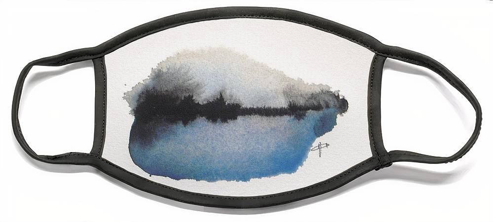 Abstract Face Mask featuring the painting Reflection in the lake by Vesna Antic