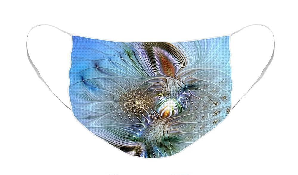 Abstract Face Mask featuring the digital art Rhapsodic Rendezvous by Casey Kotas