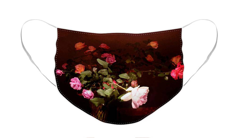Roses Face Mask featuring the photograph Rose Bouquet by Steve Karol