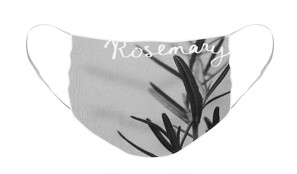 Rosemary Face Mask featuring the mixed media Rosemary by Linda Woods