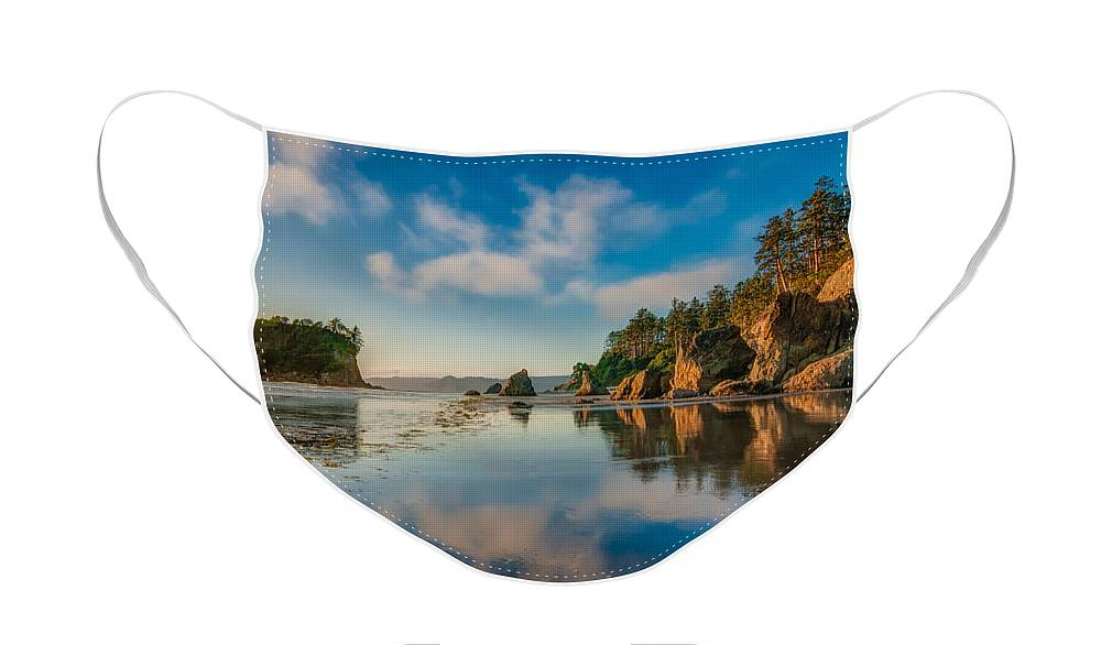 H2o Face Mask featuring the photograph Ruby Beach by Rich Leighton