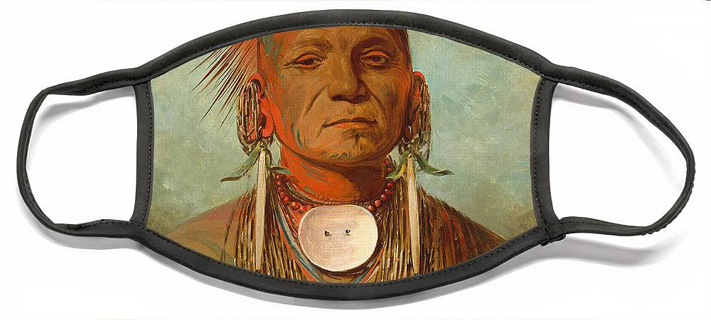 Chief Face Mask featuring the painting See non ty a an Iowa Medicine Man by George Catlin