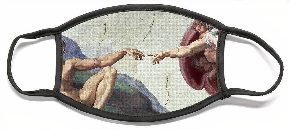 Renaissance Face Mask featuring the painting Sistine Chapel Ceiling by Michelangelo Buonarroti