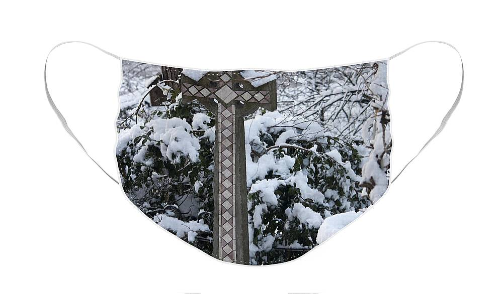 Snow Face Mask featuring the photograph Snow on the Cross by Teresa Mucha