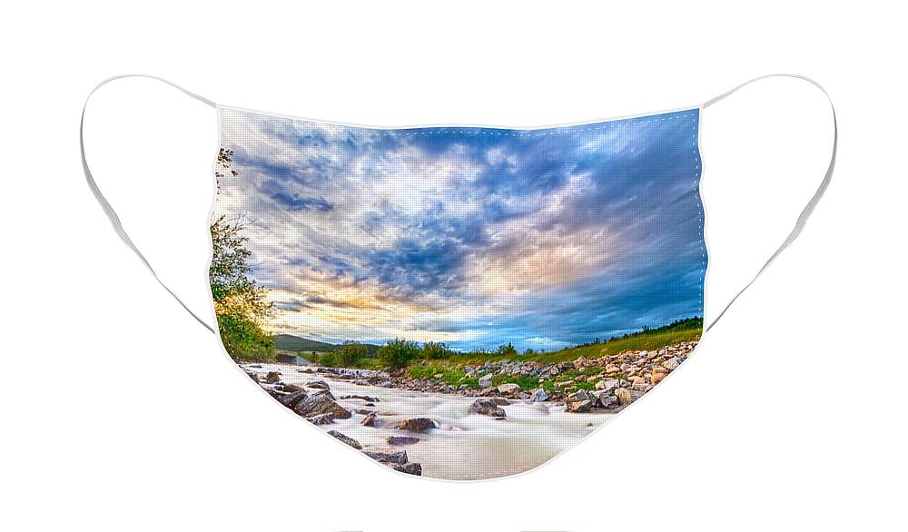 Creek Face Mask featuring the photograph South Boulder Creek Sunset View Rollinsville Colorado by James BO Insogna