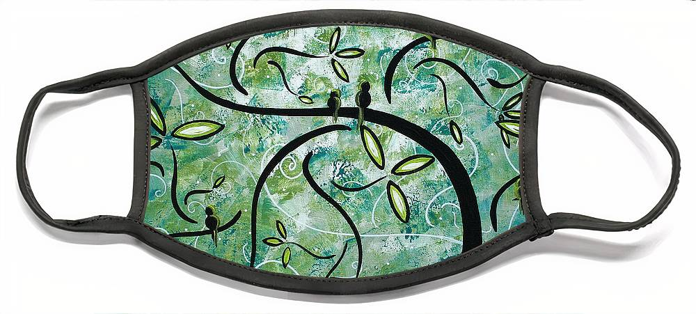 Wall Face Mask featuring the painting Spring Shine by MADART by Megan Duncanson