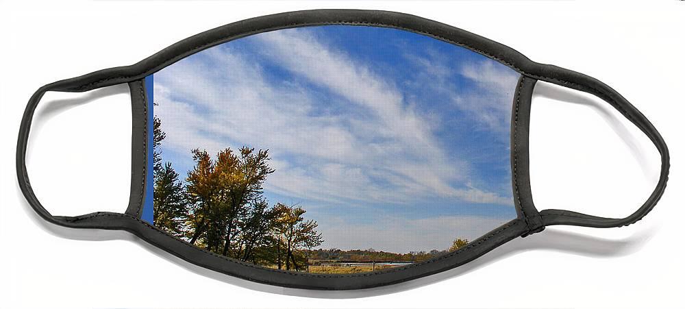 Landscape Face Mask featuring the photograph Squaw Creek Landscape by Steve Karol