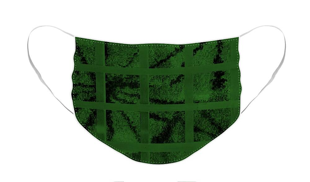 Poster Face Mask featuring the photograph Starbox Neg Olive Green by Rob Hans