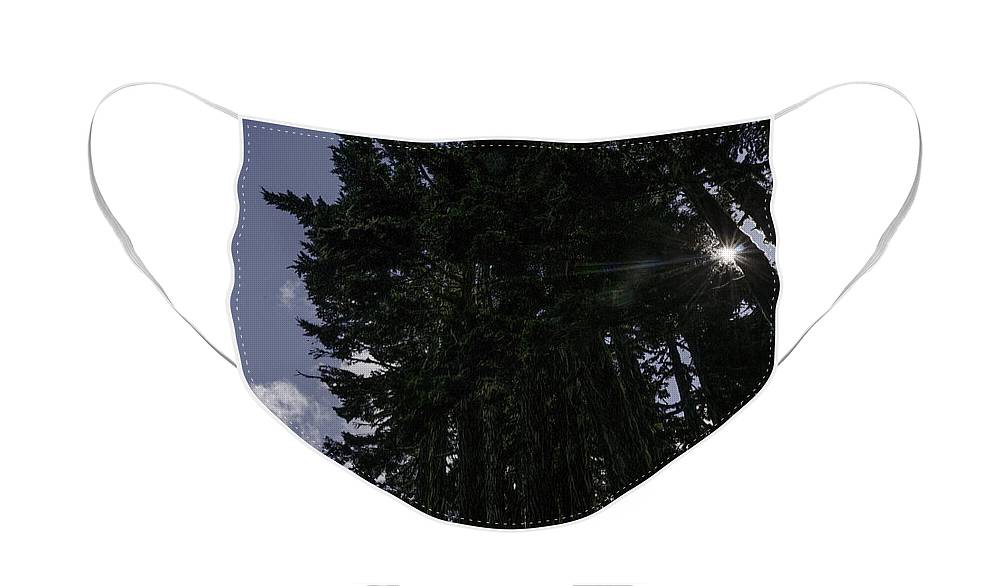 Mt. Baker-snoqualmie Face Mask featuring the photograph Starburst on Chain Lakes Trail by Paul Conrad