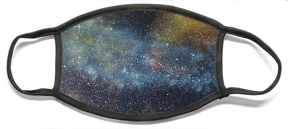 Oil Painting On Canvas Face Mask featuring the painting Stargasm by Sean Connolly