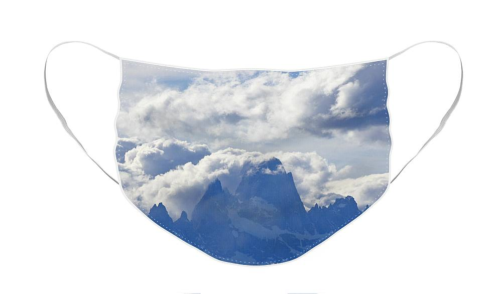 Argentina Face Mask featuring the photograph Storm Over Fitz Roy 1 by Michele Burgess