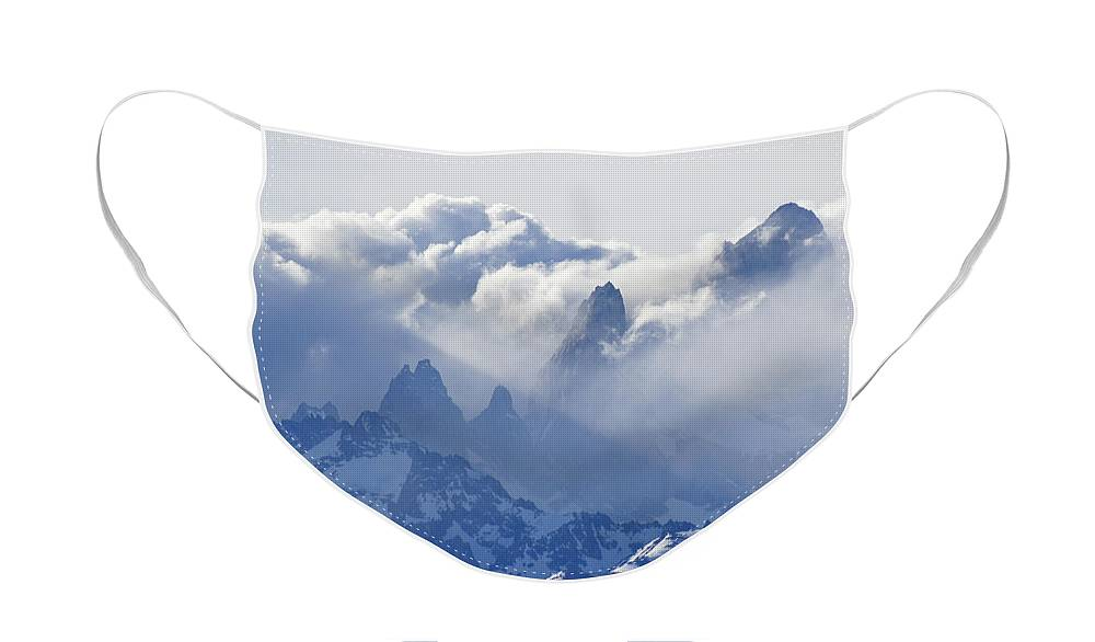 Argentina Face Mask featuring the photograph Storm Over Fitz Roy 2 by Michele Burgess