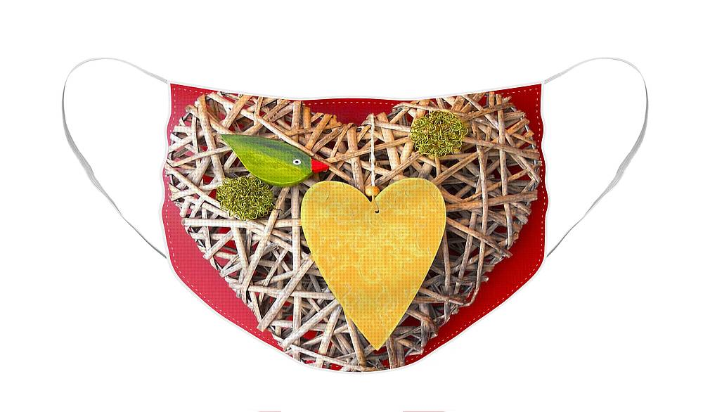 Love Face Mask featuring the photograph Summer Heart by Juergen Weiss