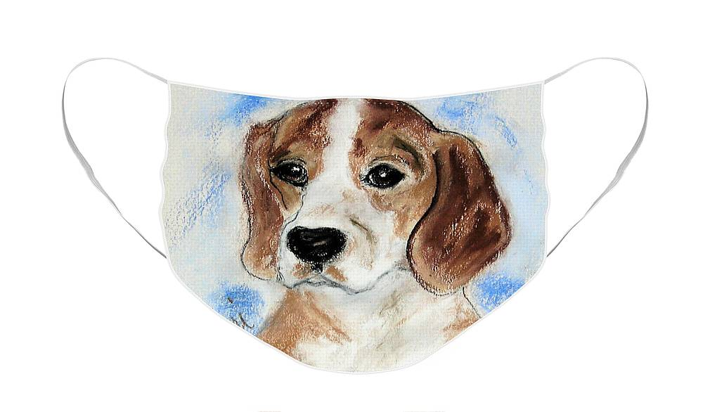 Dog Face Mask featuring the drawing Sweet Innocence by Cori Solomon