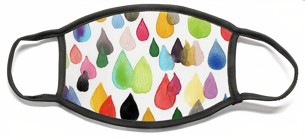 Drops Face Mask featuring the painting Tears Of An Artist by Linda Woods