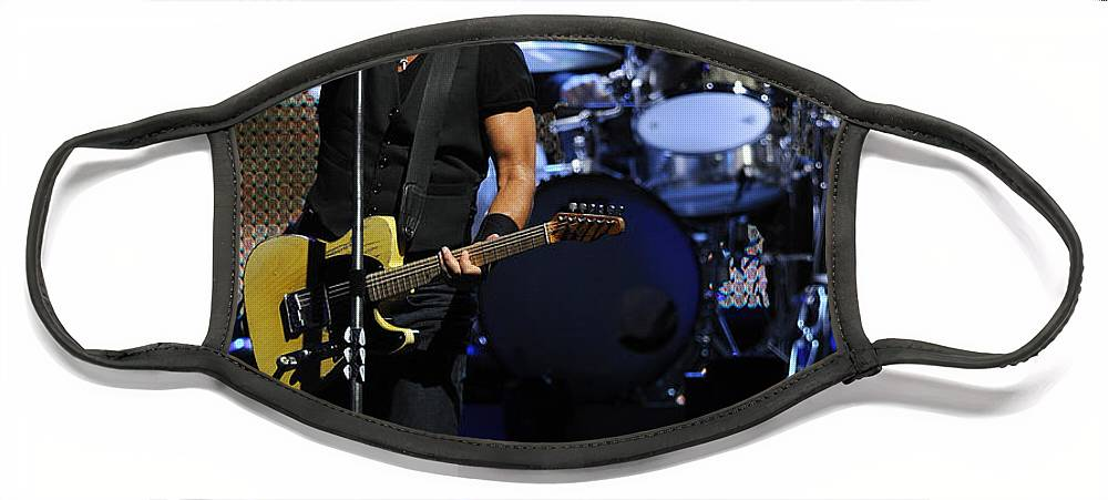 Music Face Mask featuring the photograph The Boss 29 by Rafa Rivas