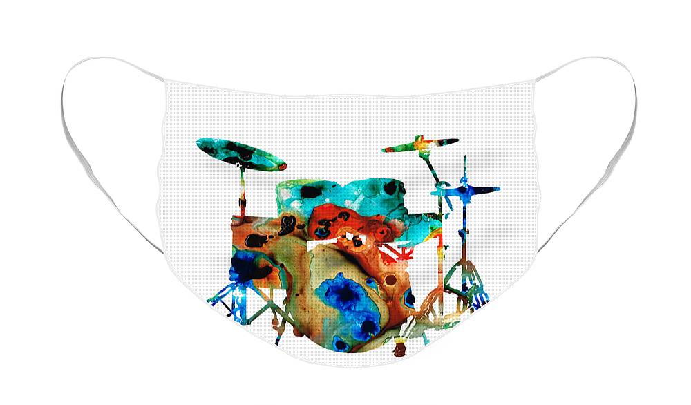 Rock And Roll Drummer Face Masks