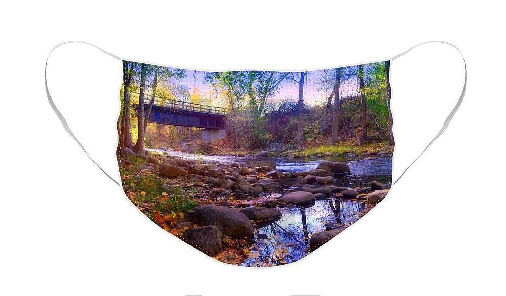 Ellis Face Mask featuring the photograph The Ellis Creek Bridge by Tara Turner