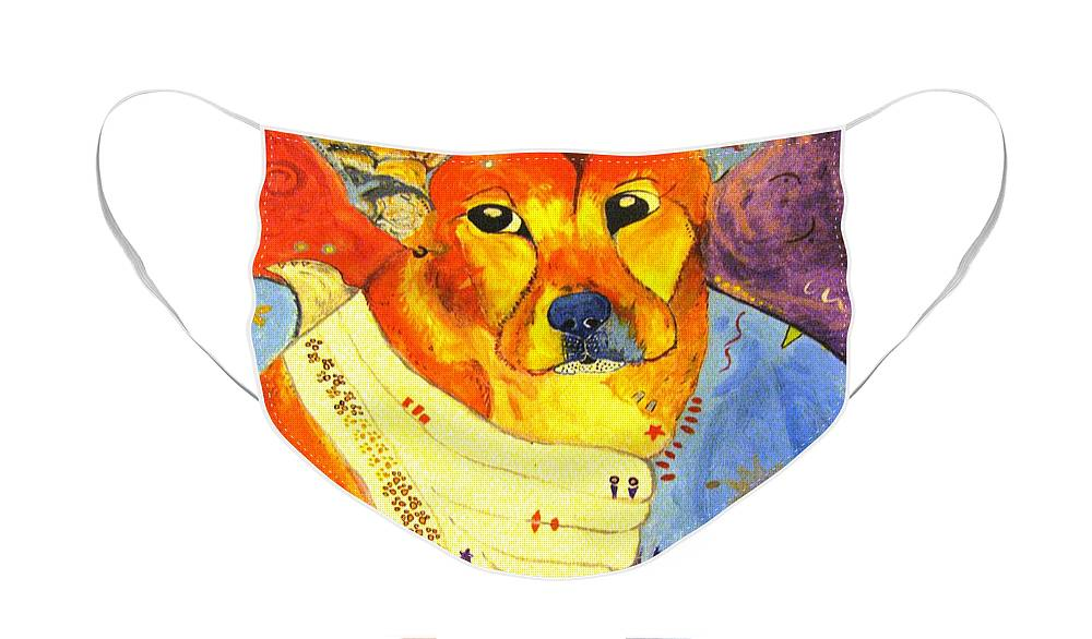 The Heart That Rescues Face Mask featuring the painting The Heart That Rescues by Michelle Reid