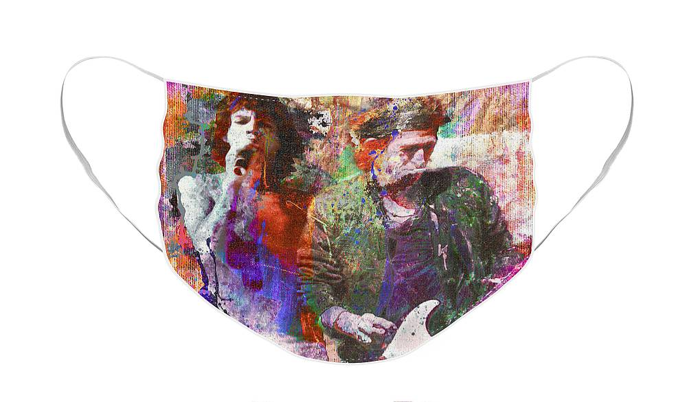 Rock N Roll The Rolling Stones Face Masks