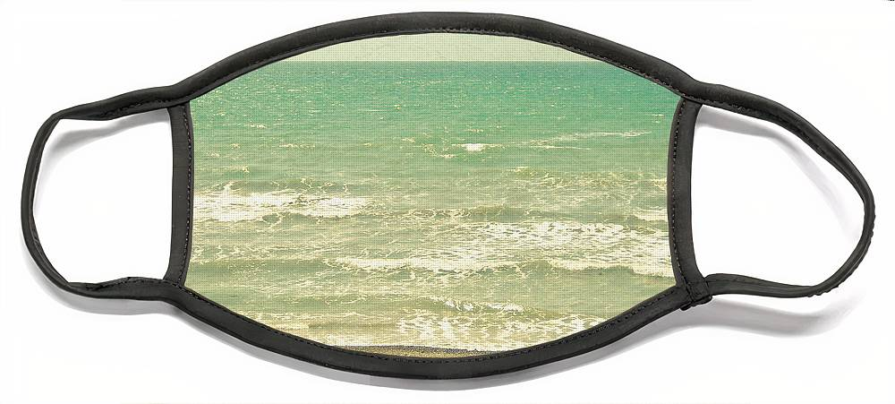 Landscape Face Mask featuring the photograph The Sea the Sea by Cassia Beck