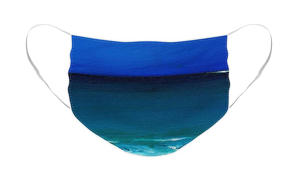 Seashore Face Mask featuring the painting The Tide Coming In by Frances Marino