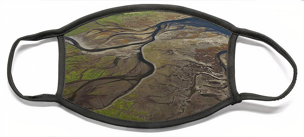 530682 Face Mask featuring the photograph Tidal Flat Inside Passage Alaska by Hiroya Minakuchi
