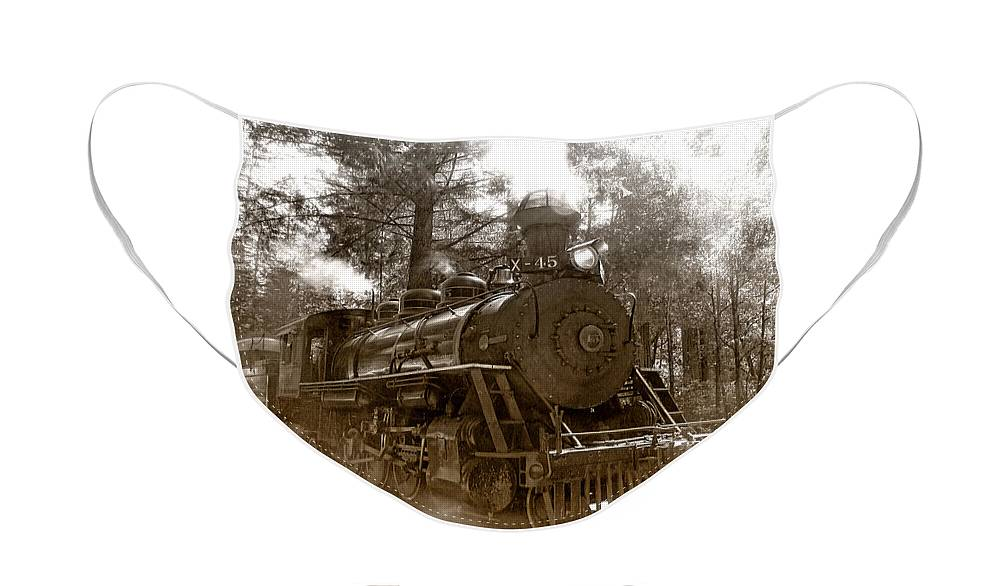 Locomotive Face Mask featuring the photograph Time Traveler by Donna Blackhall