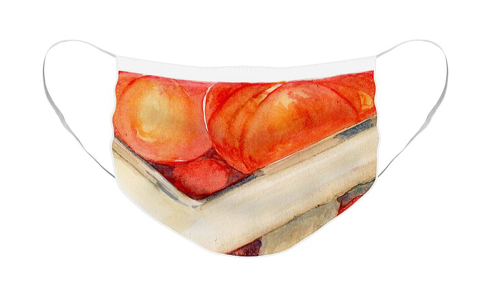 Elle Fagan Face Mask featuring the painting Tomato Basket by Elle Smith Fagan