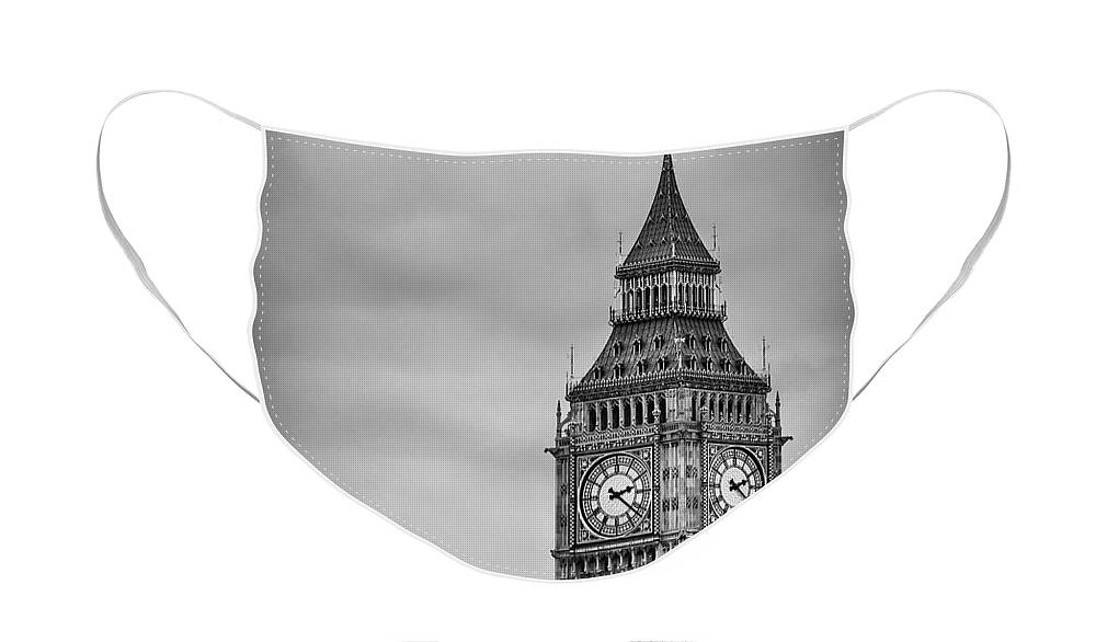 Big Ben Face Mask featuring the photograph Tower Of Power by Evelina Kremsdorf