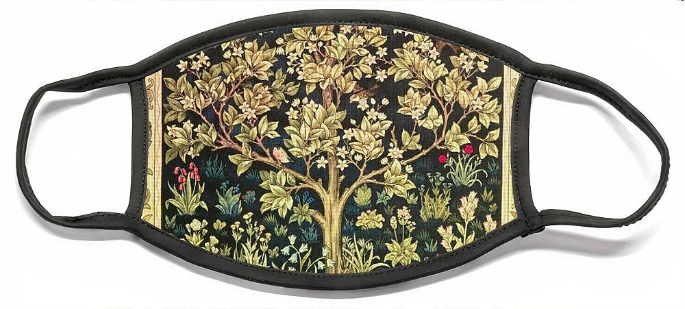 William Morris Face Mask featuring the painting Tree Of Life by William Morris