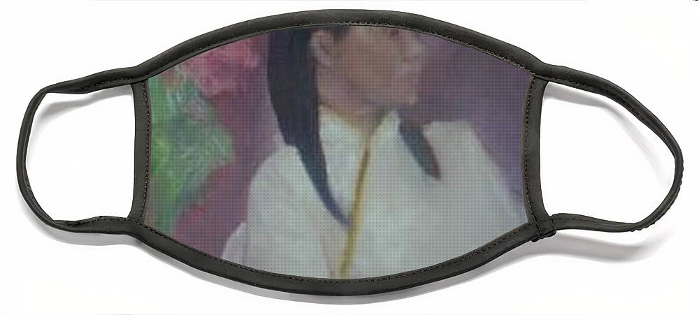Woman Face Mask featuring the painting Untitled #2 by Sheila Mashaw
