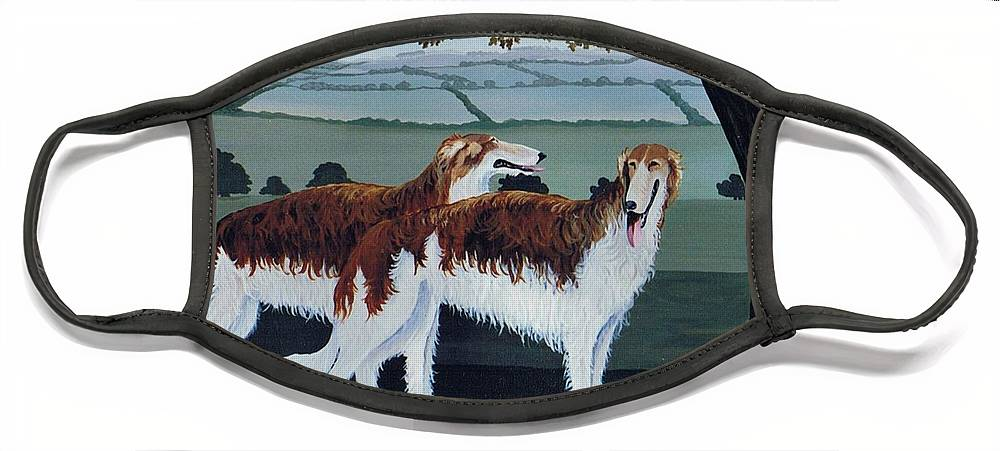 Borzoi Face Mask featuring the photograph Untitled by Maggie Rowe