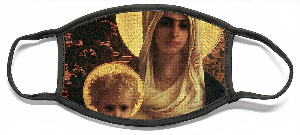 Herbert Face Mask featuring the painting Virgin and Child by Antoine Auguste Ernest Herbert