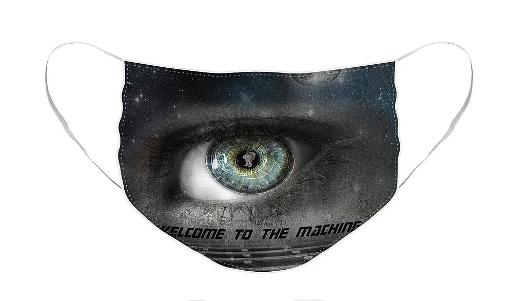 Astronomical Face Mask featuring the photograph Welcome to the Machine by Juli Scalzi