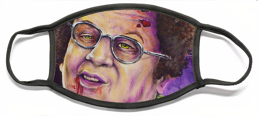Dr. Steve Brule Face Mask featuring the painting Zombie Dr. Steve Brule by Michael Vanderhoof