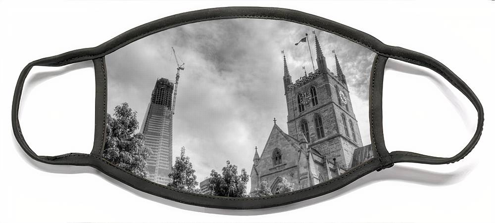 Shard Face Mask featuring the photograph New and Old by Chris Day