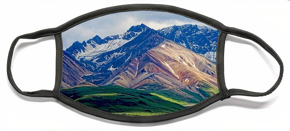 Denali Face Mask featuring the photograph Alaskan Range by Heather Applegate